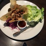 The Mushroom Lettuce Wraps are a delicious appetizer to share.