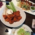 We ordered Gardein Buffalo Wings and Fried Coconut Shrimp for lunch.