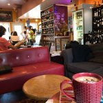 A sip of heaven, wine bar and a lending library!