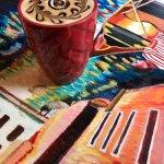 Surrealistic Latte on an impressionist table!
