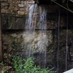 Basin Spring roaring during the rain