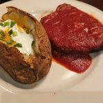 Mom's meatloaf with baked potato