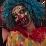 Crazy scary clown