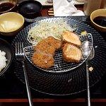 Hire and salmon Katsu at the Yabu House of Katsu, Makati