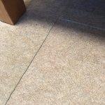 Missplaced carpet pieces