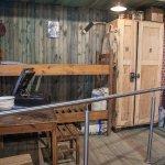 The museum shows a replica of a POW hut inside