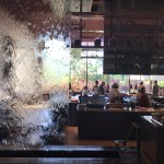 beautiful atmosphere, so chic. water running over glass.