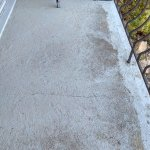 dirty balcony floor