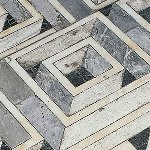 Particolare pavimentazione tridimensionale labirintica