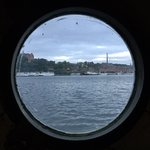 View through the porthole over to Södermalm
