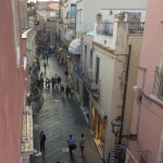 The street from our room