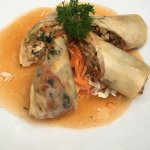 Our starter tonight... vegetable spring rolls. Looked as per photo in menu!! Tasted even better!
