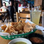 Bottomless salsa (3 kinds) with homemade tortilla chips!