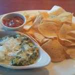 Appetizer - Artichoke dip and chips