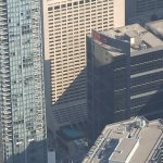 View of the hotel from CN Tower.