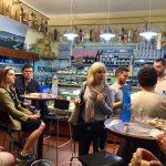 Tasting salumi and pecorino cheeses with Sofia