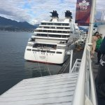 Viewing the cruise ships at Canada Place