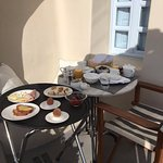 Breakfast delivered to our balcony each morning