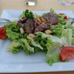 Bonne salade de gésiers et foies