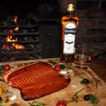 hot smoked bushmills salmon