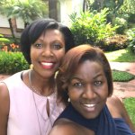 Pictures of sisters on vacation at hotel la rosa America. Awesome gardens awesome hotel.