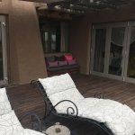 Liegestühle auf der eigenen Veranda