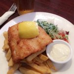 Fish and chips with a Heineken