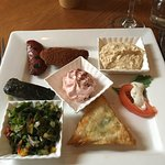 delicious starter platter served with excellent warm bread