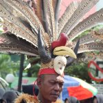 Dayak uniform with feather bird is arnaval
