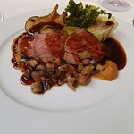The roast rump of lamb