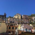 Views of Riomaggiore town and beach