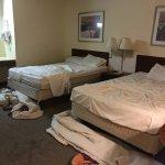Sorry ... we always throw bedspreads on the floor immediately