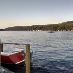 View from deck Lake Winnipesaukee