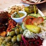 Vegan meze platter