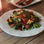 Salatteller zum Fisch