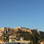 View of Acropolis from roof top