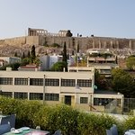 View of Parthenon from roof top bar/restaurant