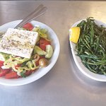 Greek salad + skiathos spinach from castle