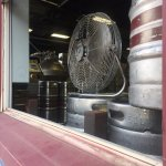 Visitors can peek through and watch the brewery in action