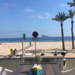 Vista desde la playa de Levante