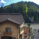 Village/ Mountain view from our balcony. :)