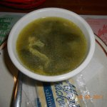 egg & spinach soup