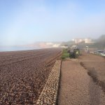 Mist beginning to clear over Budleigh.