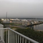 Early evening from our 3rd floor balcony looking at Greenport Harbor