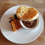 Steak and Ale pie with chips