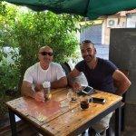Enjoying some coffee with a friend at Fatatri.