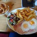 Ham,egg & chips