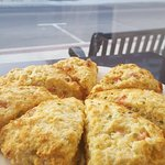 Ham, Cheese and Chive scones. Delicious!