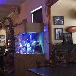 Aquarium inside of the restaurant.
