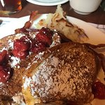 Half Order of Cherry Stuffed French Toast (hash browns do not come with it)